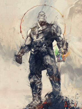 Thanos-Avengers-Infinity-War-Poster